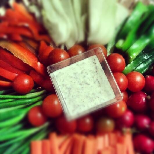 פלטת ירקות עם מטבל